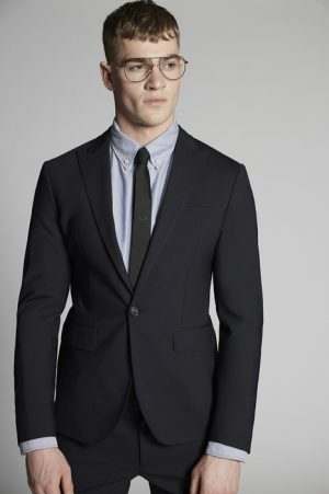 DSQUARED2 Men Suit Dark blue Size 38 95% Virgin Wool 5% Elastane