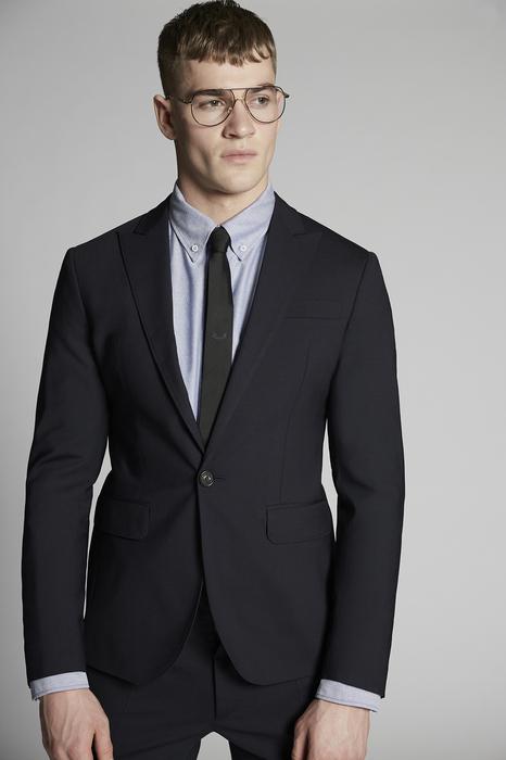 DSQUARED2 Men Suit Dark blue Size 42 95% Virgin Wool 5% Elastane