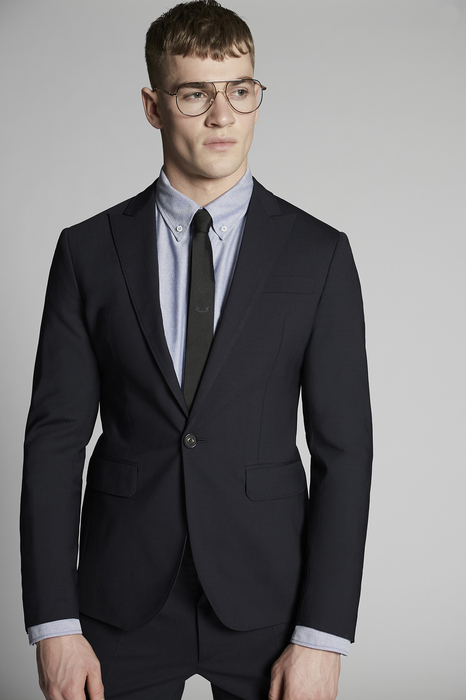 DSQUARED2 Men Suit Dark blue Size 44 95% Virgin Wool 5% Elastane