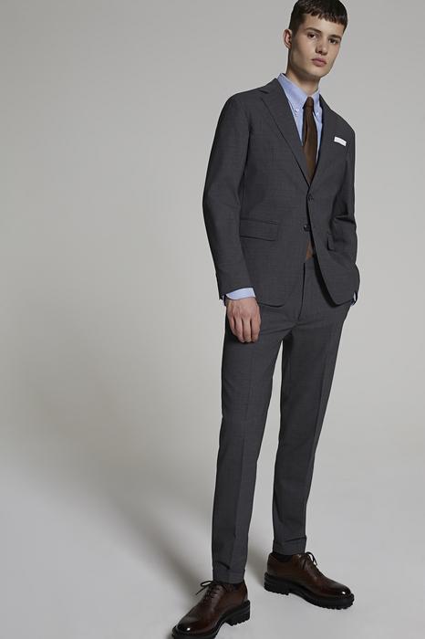 DSQUARED2 Men Suit Grey Size 36 95% Wool 5% Elastane