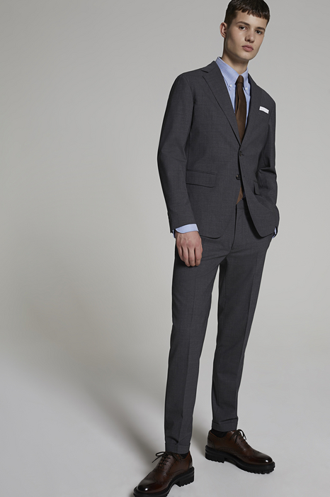 DSQUARED2 Men Suit Grey Size 42 95% Wool 5% Elastane