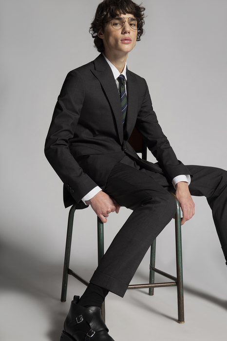 DSQUARED2 Men Suit Steel grey Size 40 95% Virgin Wool 5% Elastane