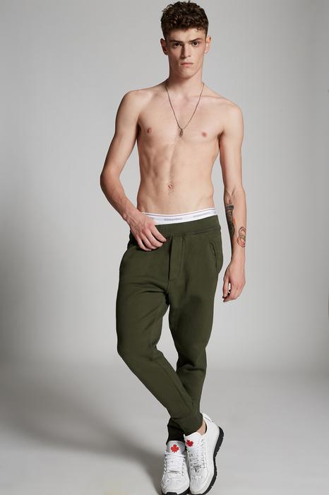 DSQUARED2 Men Sweat pants Military green Size M 100% Cotton