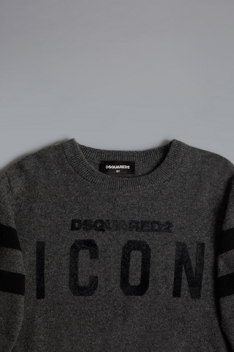 DSQUARED2 Men Sweater Dark grey Size 6 80% Wool 20% Polyamide