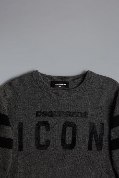 DSQUARED2 Men Sweater Dark grey Size 8 80% Wool 20% Polyamide