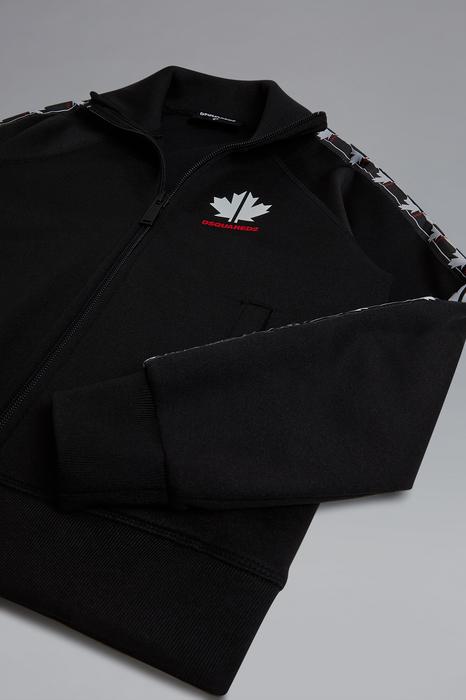DSQUARED2 Men Sweatshirt Black Size 10 55% Polyester 45% Cotton