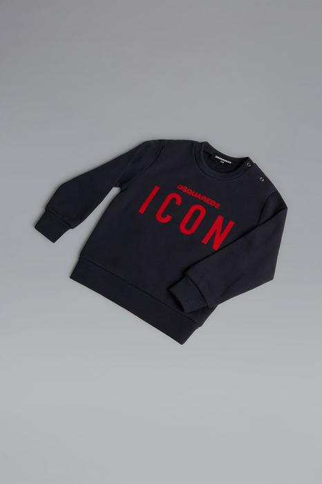 DSQUARED2 Men Sweatshirt Black Size 21-24 100% Cotton