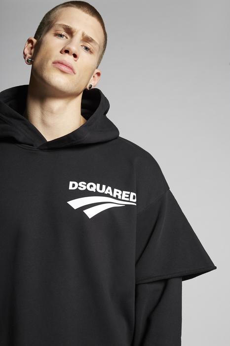 DSQUARED2 Men Sweatshirt Black Size 3XL 100% Cotton