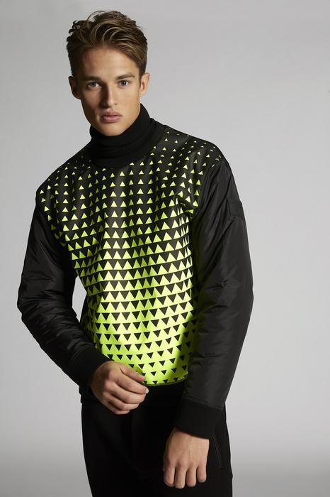 DSQUARED2 Men Sweatshirt Black Size L 95% Viscose 5% Elastane