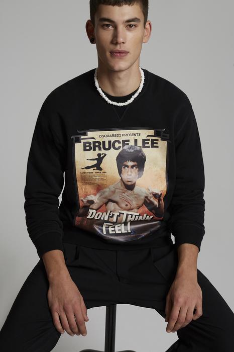 DSQUARED2 Men Sweatshirt Black Size S 100% Cotton