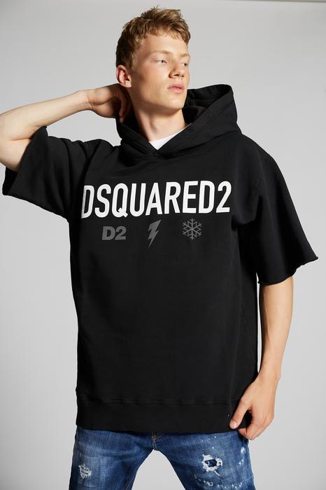 DSQUARED2 Men Sweatshirt Black Size XS 100% Cotton