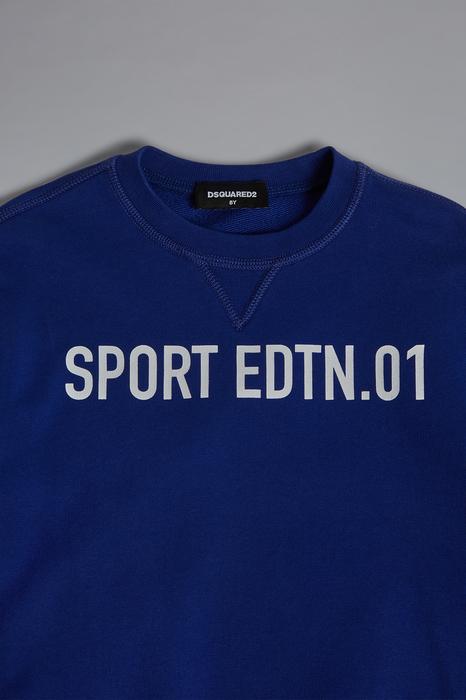 DSQUARED2 Men Sweatshirt Blue Size 12 100% Cotton