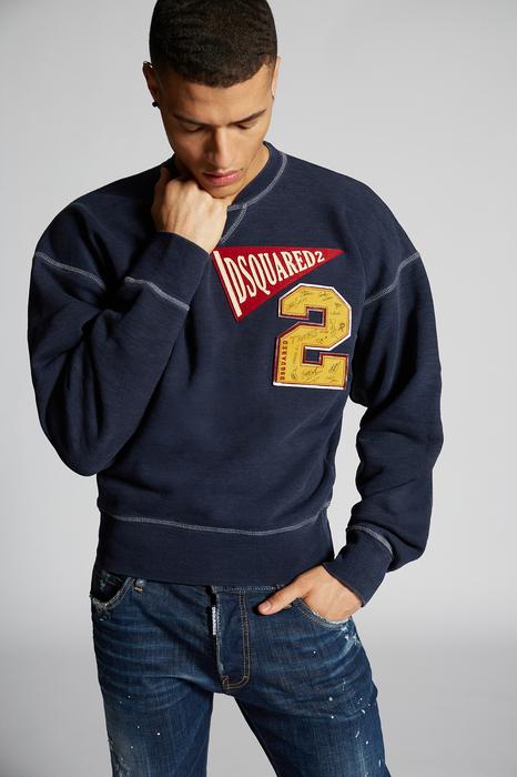 DSQUARED2 Men Sweatshirt Blue Size XS 100% Cotton