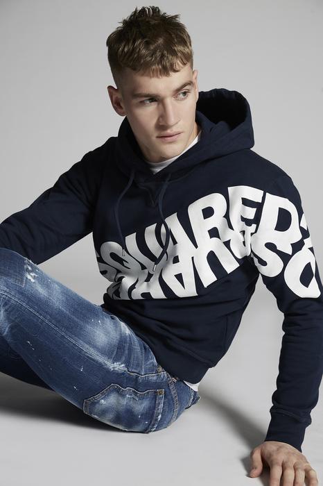 DSQUARED2 Men Sweatshirt Dark blue Size XL 100% Cotton