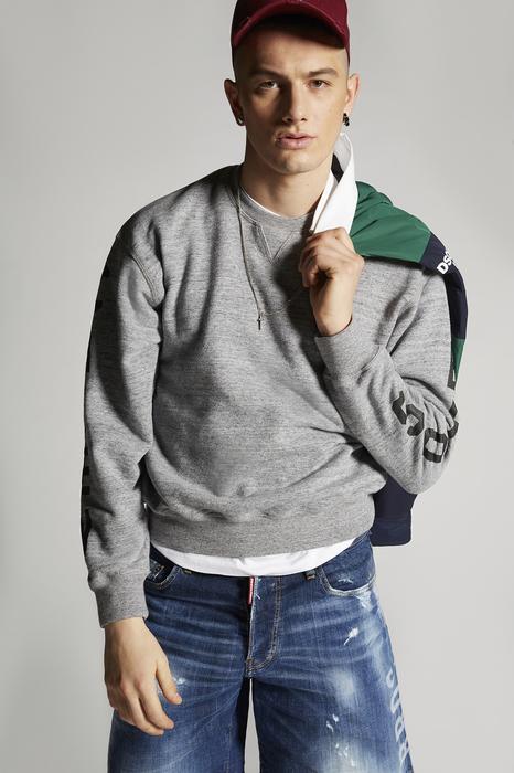 DSQUARED2 Men Sweatshirt Grey Size XS 100% Cotton