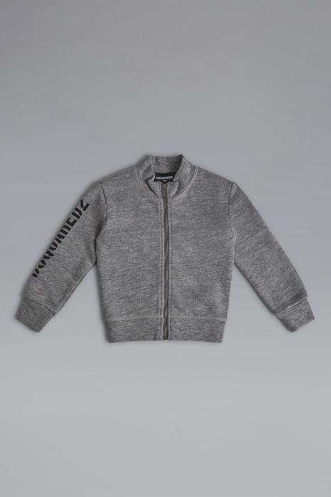 DSQUARED2 Men Sweatshirt Light grey Size 15-18 92% Cotton 8% Viscose
