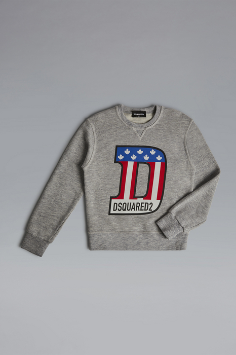 DSQUARED2 Men Sweatshirt Light grey Size 8 92% Cotton 8% Rayon