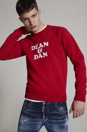 DSQUARED2 Men Sweatshirt Red Size S 100% Cotton