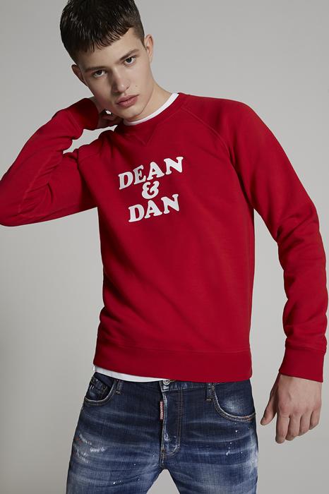 DSQUARED2 Men Sweatshirt Red Size XL 100% Cotton