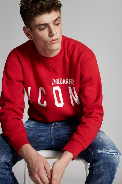 DSQUARED2 Men Sweatshirt Red Size XS 100% Cotton
