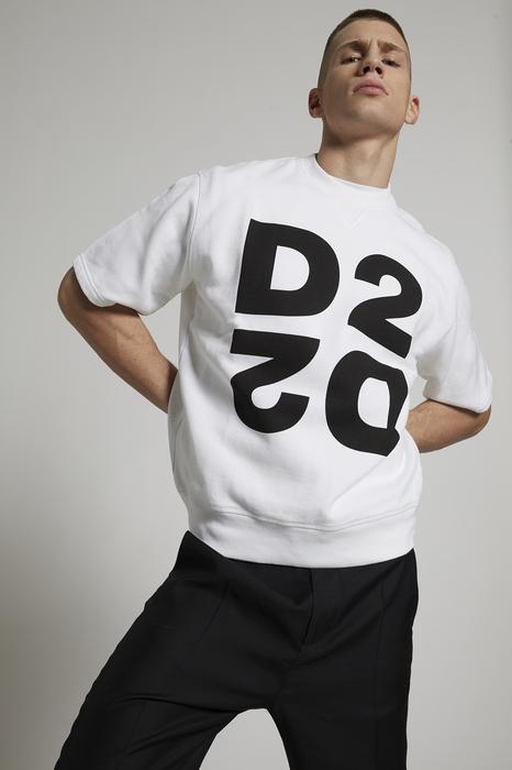 DSQUARED2 Men Sweatshirt White Size L 100% Cotton