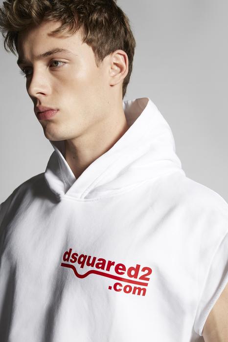 DSQUARED2 Men Sweatshirt White Size XL 100% Cotton