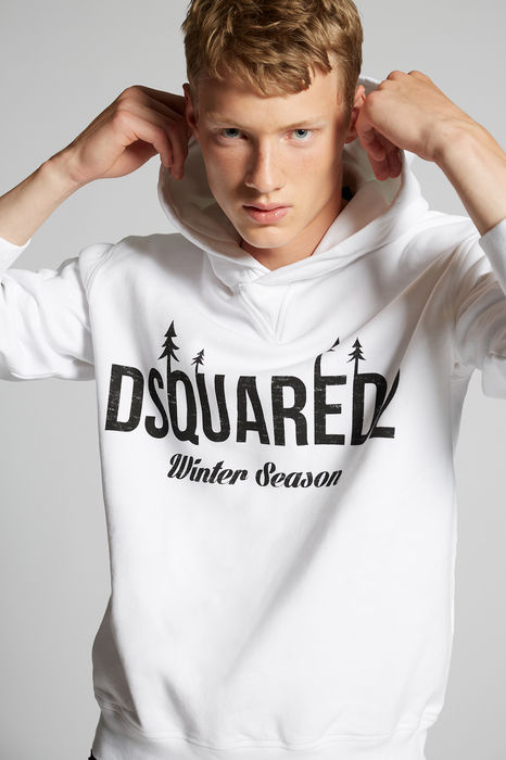 DSQUARED2 Men Sweatshirt White Size XS 100% Cotton