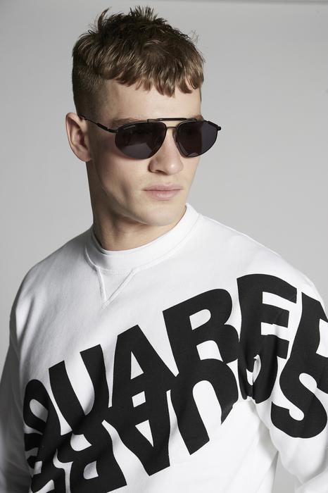 DSQUARED2 Men Sweatshirt White Size XXL 100% Cotton