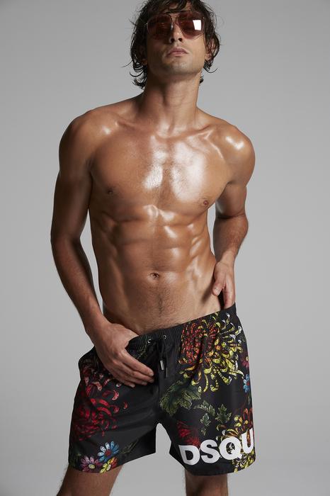DSQUARED2 Men Swimming trunks Black Size 36 100% Polyester