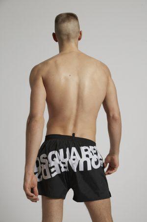 DSQUARED2 Men Swimming trunks Black Size 38 90% Polyamide 10% Elastane