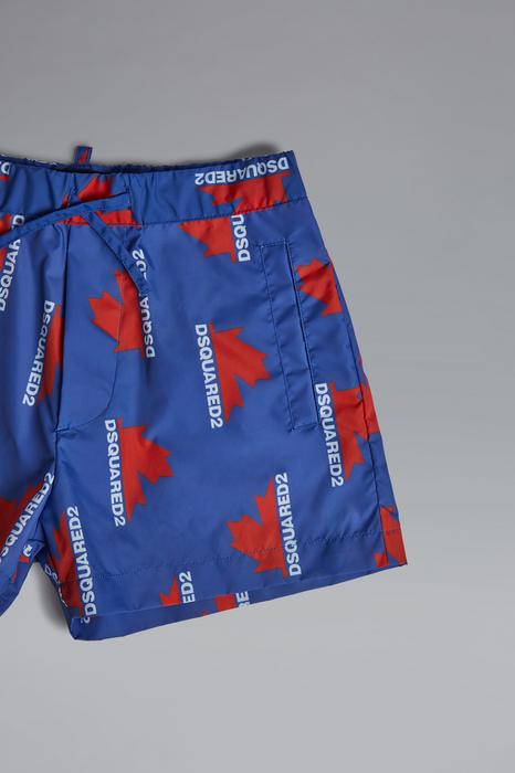 DSQUARED2 Men Swimming trunks Bright blue Size 10 100% Polyamide