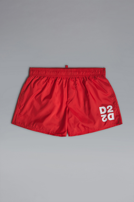 DSQUARED2 Men Swimming trunks Red Size 6 100% Polyester