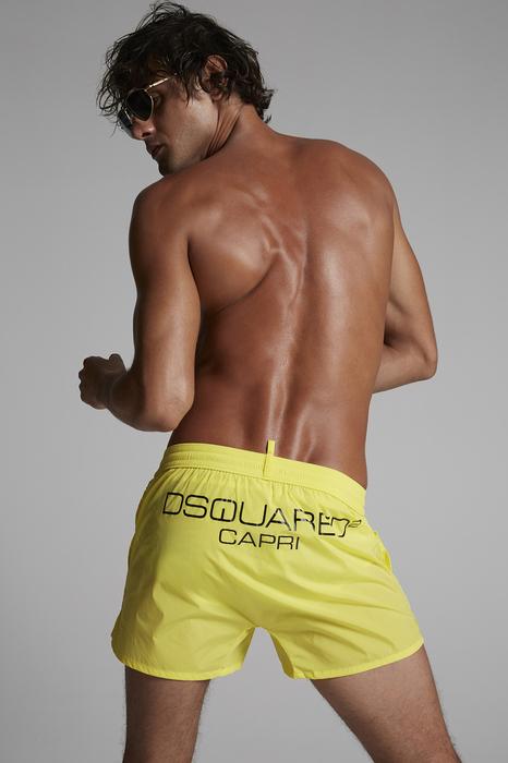 DSQUARED2 Men Swimming trunks Yellow Size 32 90% Polyamide 10% Elastane
