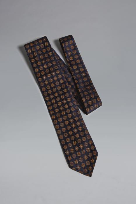 DSQUARED2 Men Tie Dark blue Size OneSize 100% Silk