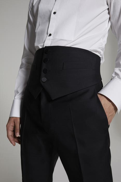 DSQUARED2 Men Vest Black Size 32 65% Virgin Wool 35% Silk