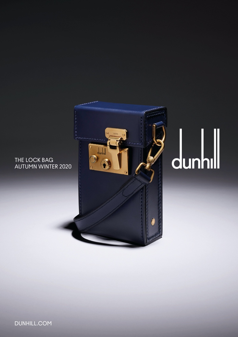 For the stylish man on the go, Dunhill offers its Lock bag for fall-winter 2020.