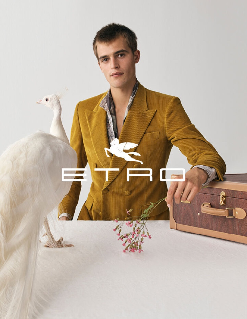 Parker van Noord stars in Etro's fall-winter 2020 men's campaign.