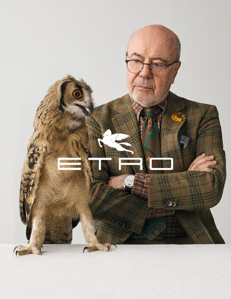 Etro founder Gimmo Etro fronts the brand's fall-winter 2020 campaign.
