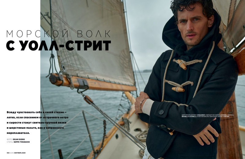 Garrett Tackles Nautical Style for GQ Russia
