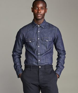 Italian Indigo Western Shirt