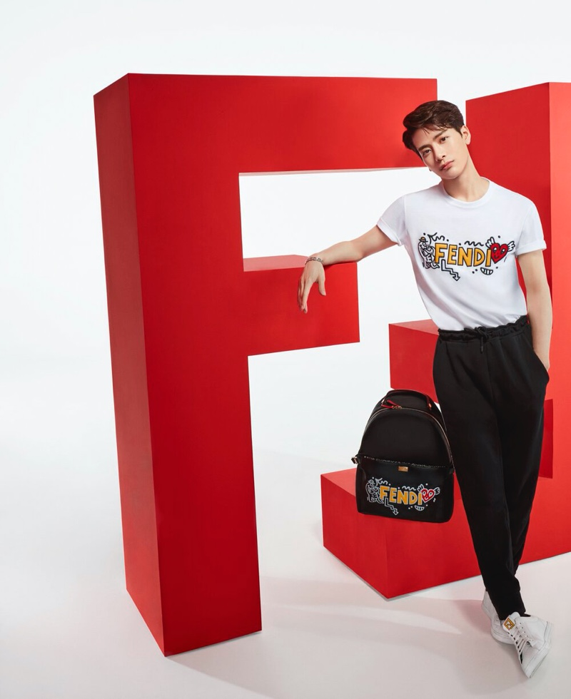 Fendi Celebrates Chinese Valentine's Day with Mr. Doodle Capsule Collection