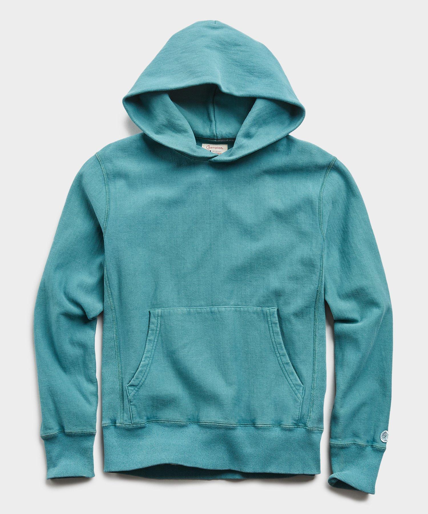 Lightweight Popover Hoodie Sweatshirt in Artichoke