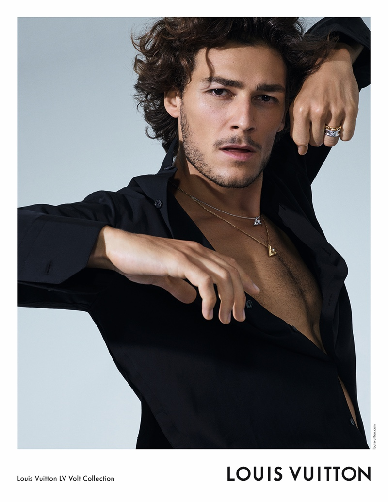 French ballet dancer Hugo Marchand stars in Louis Vuitton's LV Volt jewelry campaign.