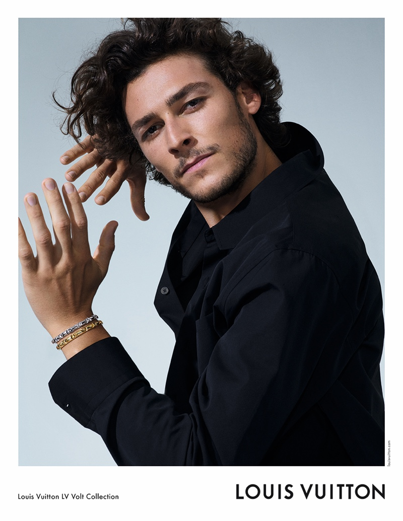 Hugo Marchand fronts Louis Vuitton's LV Volt jewelry campaign.