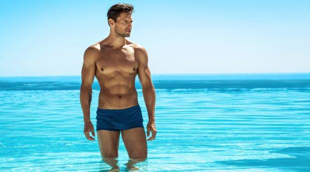 Man with Tan Beach