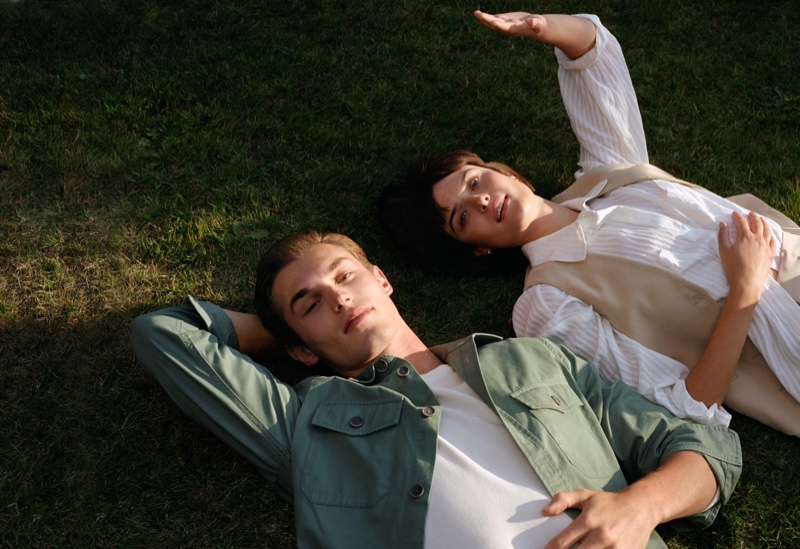 Models Kit Butler and Sam Rollinson come together in the latest fashions from Mango.