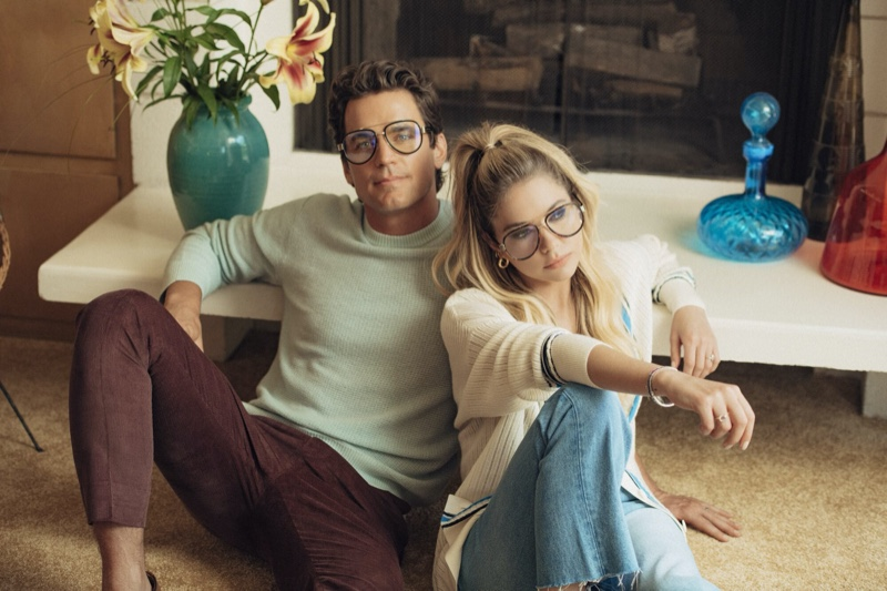 Matt Bomer and Ashley Benson wears Privé Revaux Conrads Blue Light glasses.