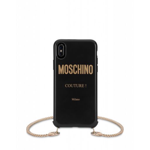 Moschino Couture Iphone X / Xs Cover With Chain