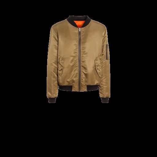 Pumpkin Face Nylon Bomber Jacket