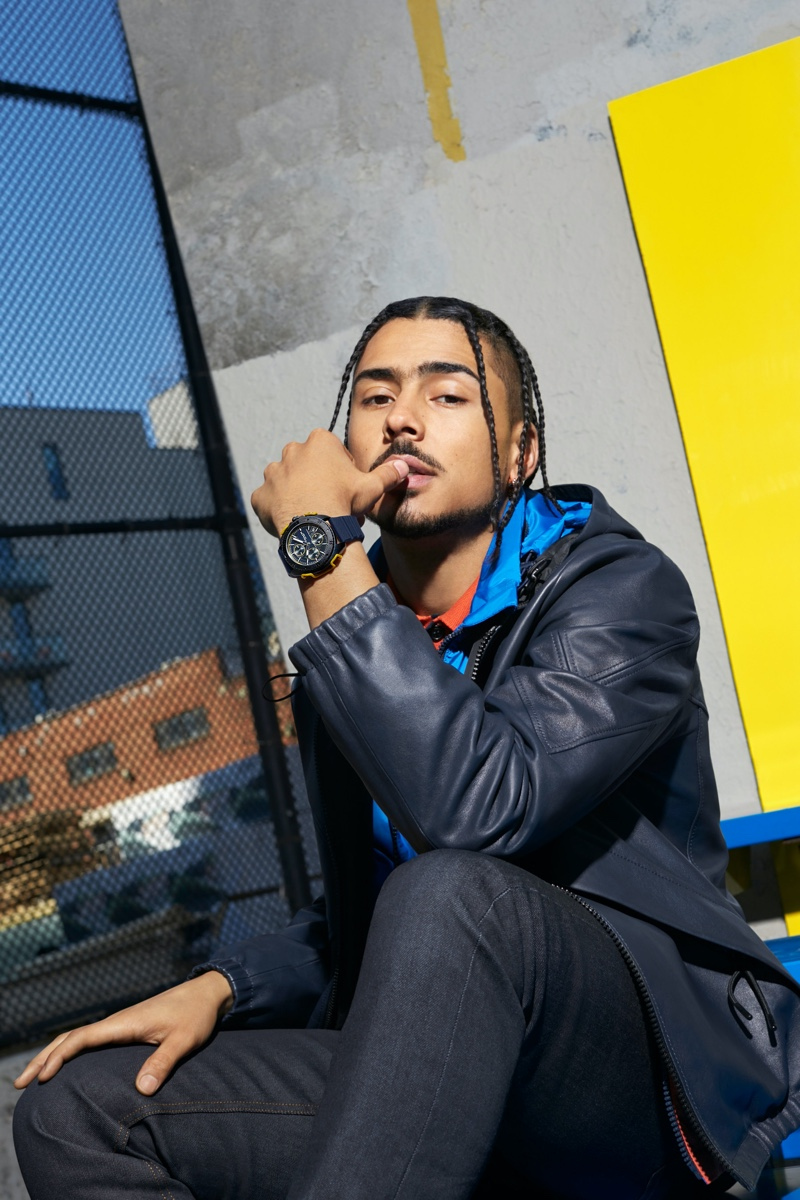 Coach taps Quincy Brown as the star of its C001 watch campaign.